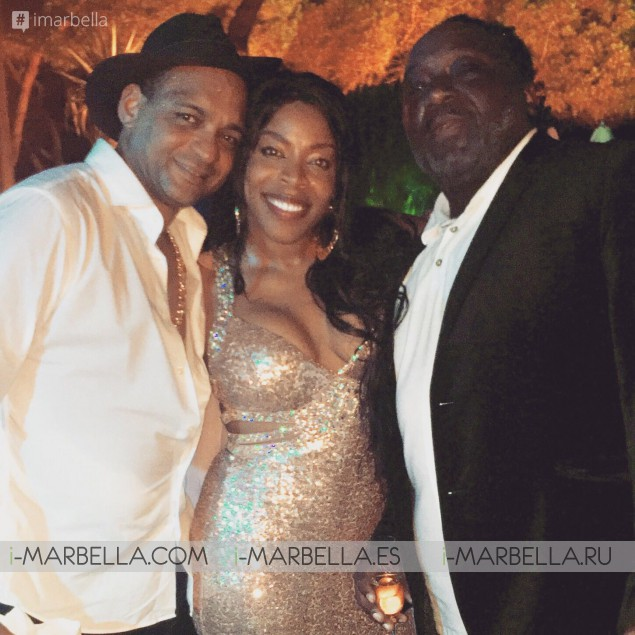 Yanela Brooks met Descemer Bueno during the Global Gift Gala Marbella, July 2017