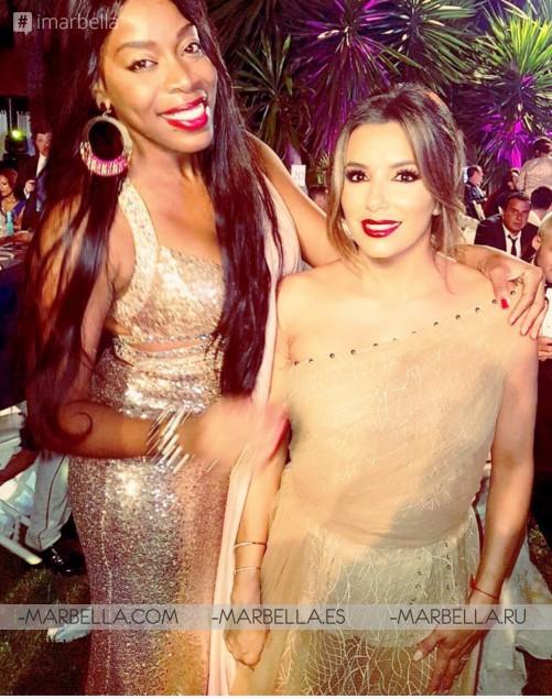 Yanela Brooks met Descemer Bueno during the Global Gift Gala Marbella, July 2017