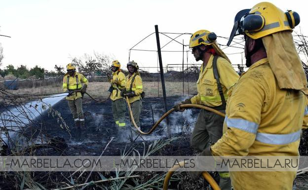Incendio cerca del Río Velerín obliga a desalojar 200 viviendas, Marbella, Agosto 2017