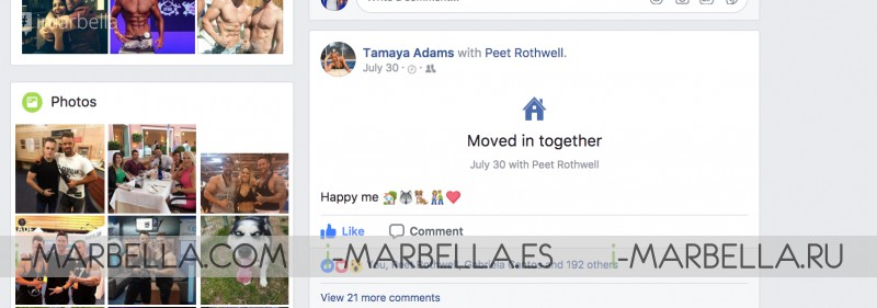 Marbella Fitness power couple are engaged, Peet Rothwell with Tamaya Adams