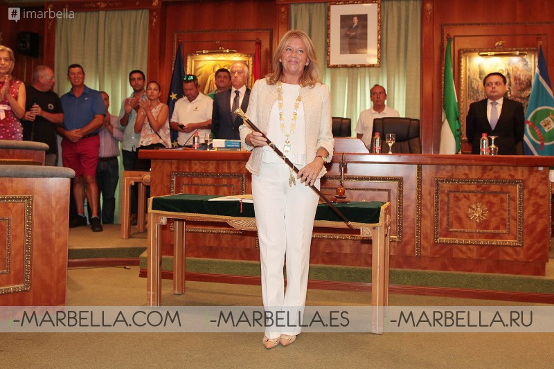 i-marbella congratulates Ángeles Muñoz as she takes office as mayor of Marbella, August 2017