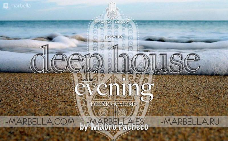 Deep House evening with Mauro Pacheco @ Besaya Beach, Marbella, September 29, 2017