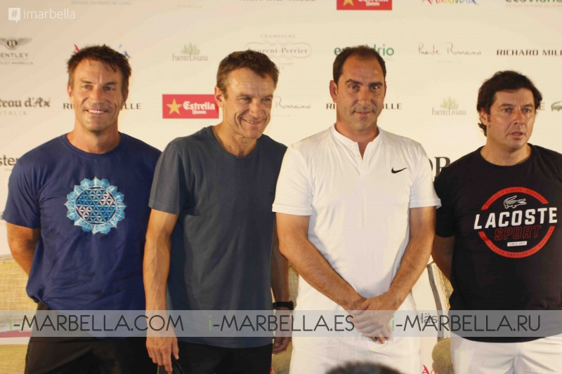 Presentation of Players of the II Senior Masters Cup @ Club de Tenis Puente Romano, September 28-30, 2017