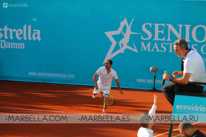 First day of the II Senior Masters Cup @ @ Club de Tenis Puente Romano, September 28-30, 2017