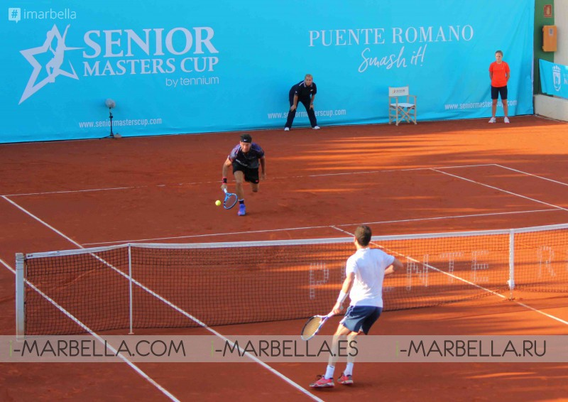 Results and gallery of the 2nd day of the II Senior Masters Cup @ Club de Tenis Puente Romano, September 28-30, 2017