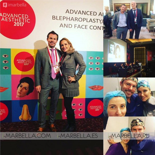 Dr. Kai Kaye in the international faculty of advanced aesthetics 2017 in St. Petersburg, Russia