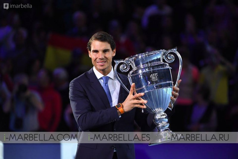 Rafa Nadal is Number 1 at the end of ATP tournament - 2017