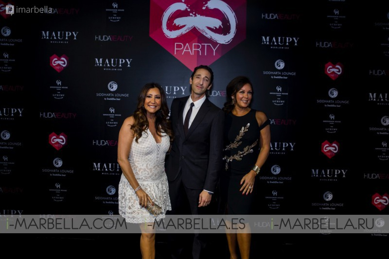 María Bravo, Vanessa Williams y Adrian Brody @ Global Gift Welcome Party Dubai 2017 Galería, Video
