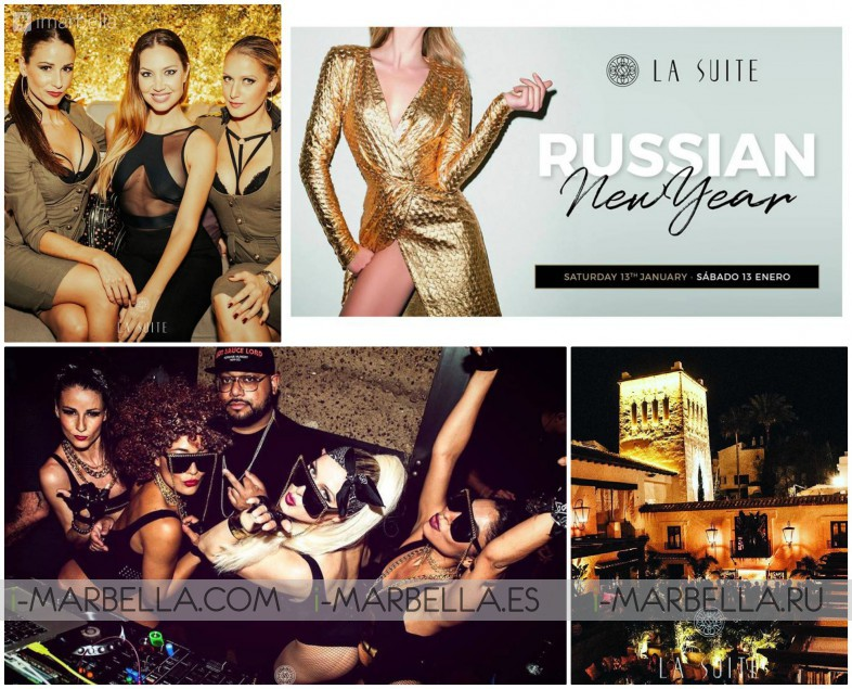 Accompany us to the Russian New Year Party @ La Suite Club Marbella January 13th 2018