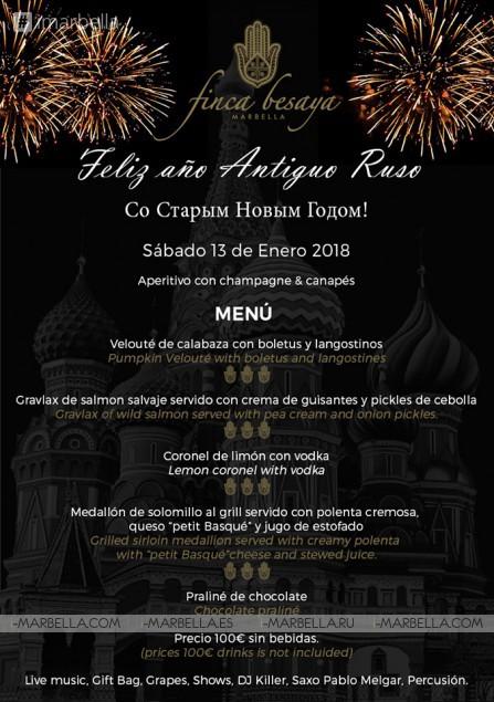 Russian New Year Party @ Finca Besaya of Marbella 13 01 2018