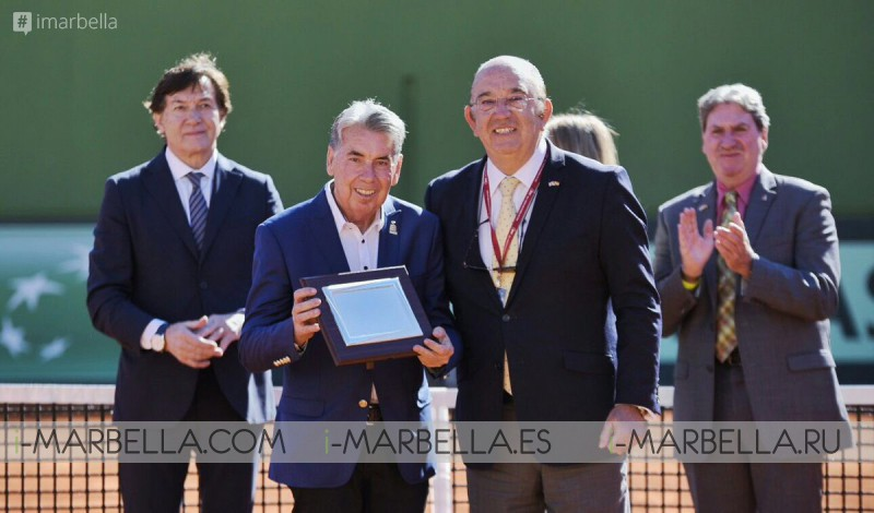 First round of Copa Davis and honour to Manolo Santana @ Puente Romano Tennis Club Marbella February 3rd 2018