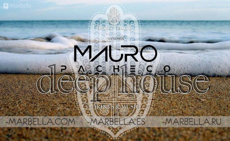 Deep House evening with Mauro Pacheco @ Besaya Beach, Mar 24, 2018