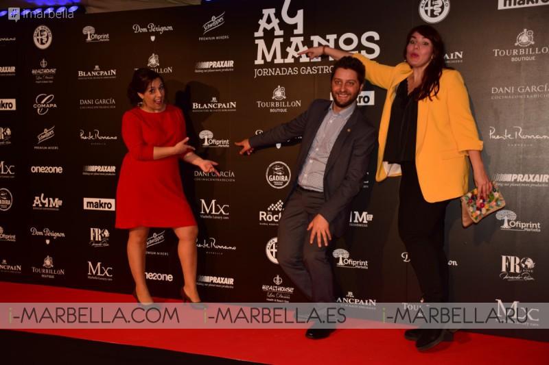 Michelin Chefs Gastón Acurio and Dani Garcia shared the kitchen for A 4 Manos @ Marbella March 19, 2018