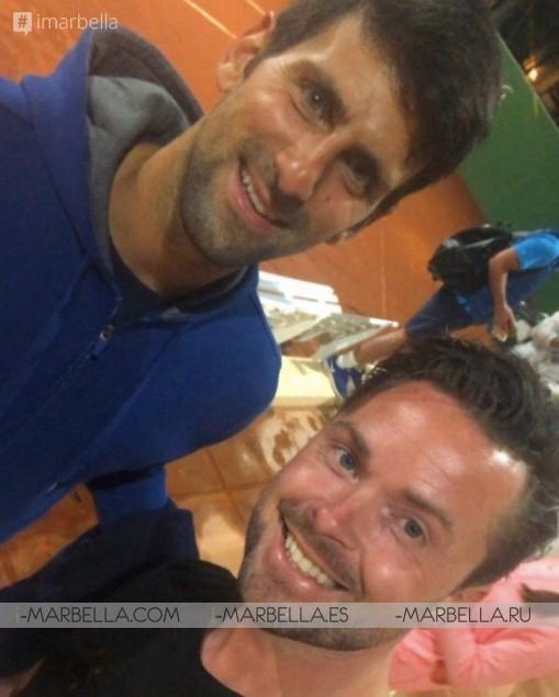 Tennis superstar Novak Djokovic training in Marbella April 7th, 2018