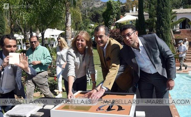 Marbella Mayoress Ángeles Muñoz placed the first stone for the Don Miguel Hotel reopening.