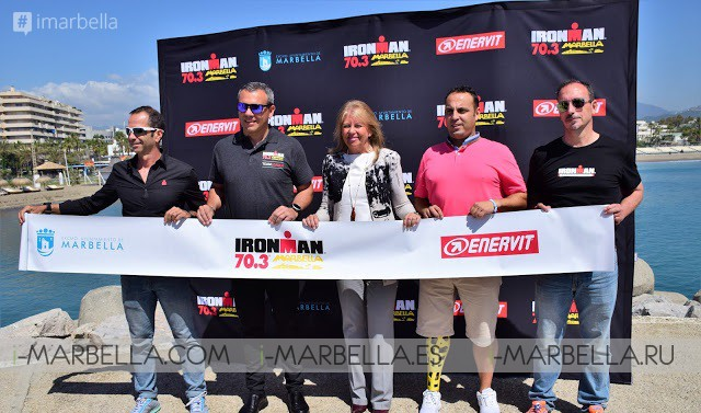 Mayoress Angeles Muñoz presented the Trial for IRONMAN 70.3 @ Marbella April 26, 2018