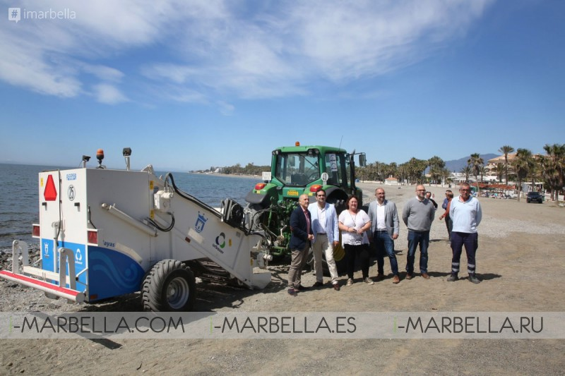 San Pedro Alcantara beach clean up planned with two stone removal machines May 2018