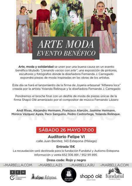 I Edición del Evento Benéfico Arte y Moda ''Llenando vacíos con Arte'' en Estepona, 26 Mayo, 2018
