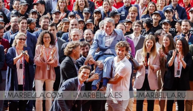 Manolo Santana Celebrated his 80 Birthday along the Mutua Madrid Open @ Madrid, Spain - May 10, 2018