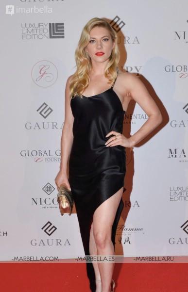 Maria Bravo premió a la estrella de Hollywood Luke Evans durante la 7ª Global Gift Initiative en Cannes Mayo  2018