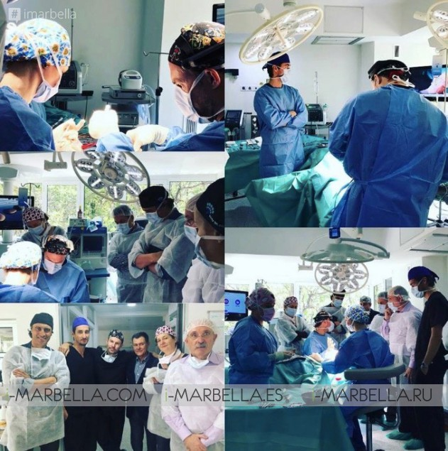 Dr.Kai Kaye from Ocean Clinic teaching young surgeons in Marbella May 19, 2018