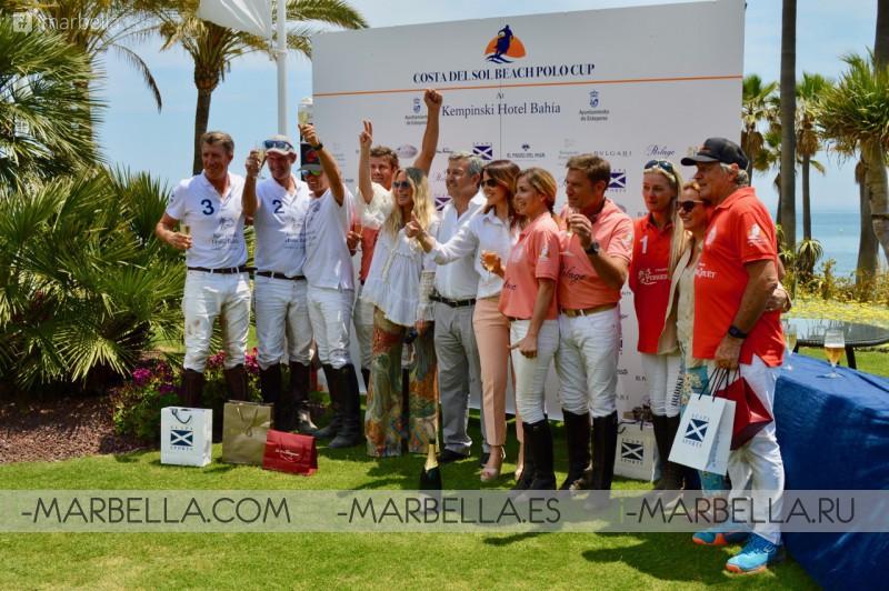 Team Kempinski Hotel triumph the first Costa del Sol Beach Polo Cup 2018 May 22, 2018
