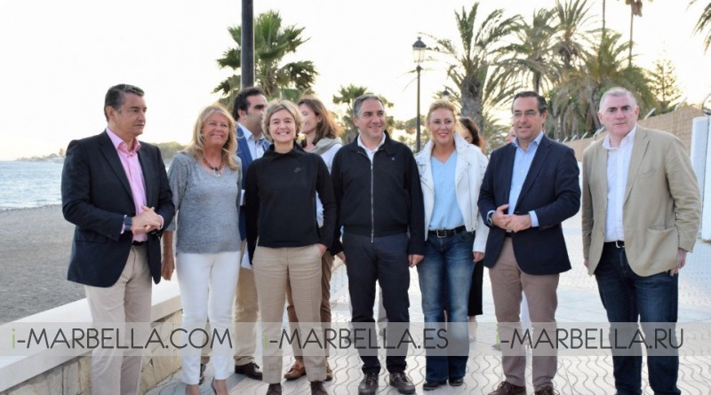 Spain Environment Minister visits Marbella to collaborate with San Pedro y Marbella beaches enhancement project 2018