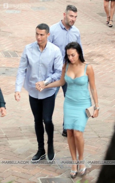 Cristiano Ronaldo and Georgina Rodriguez spending their holiday in Marbella Costa del Sol