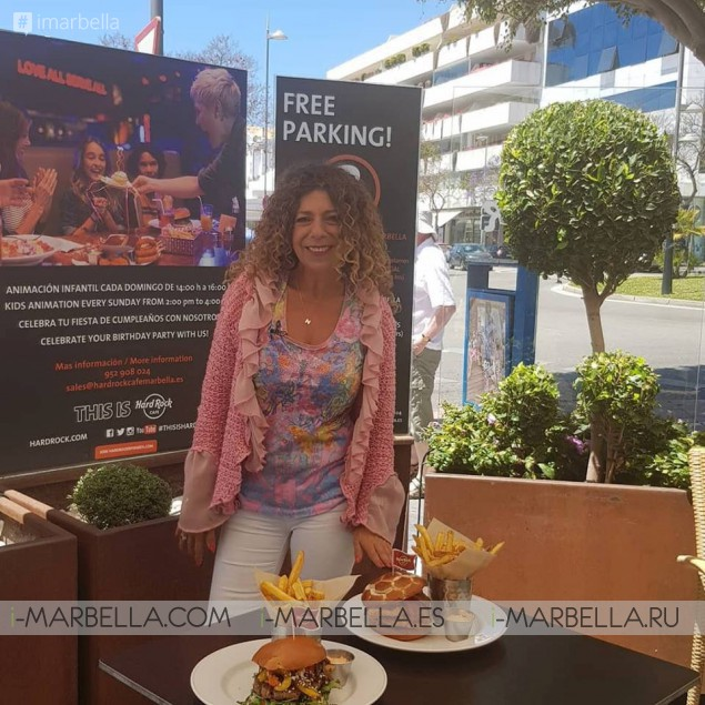 Nicole King English TV Show Marbella Now 2018 having colourful people