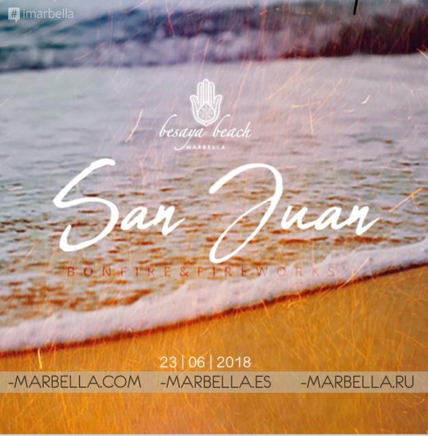 Join us San Juan Bonfire & Fireworks Jun 23, 2018 Besaya Beach Marbella