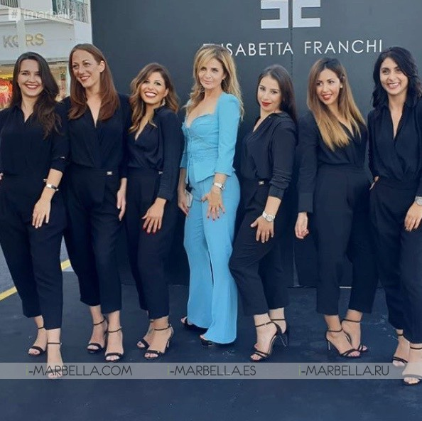Evangelina Anderson, Martin Demichelis at Elisabetta Franchi boutique opening in Puerto Banus 2018 Gallery