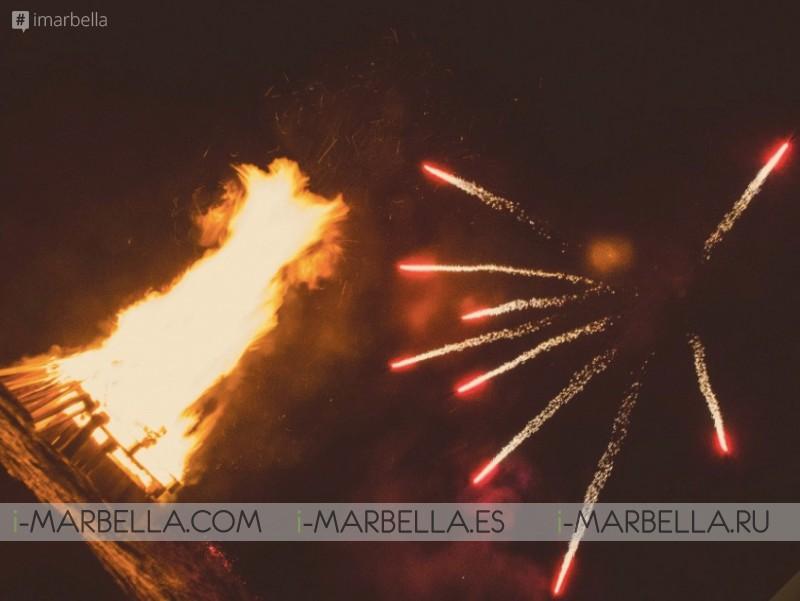 Fuegos artificiales de la Noche de San Juan en Besaya Beach, Galería de XMagazine Marbella 2018
