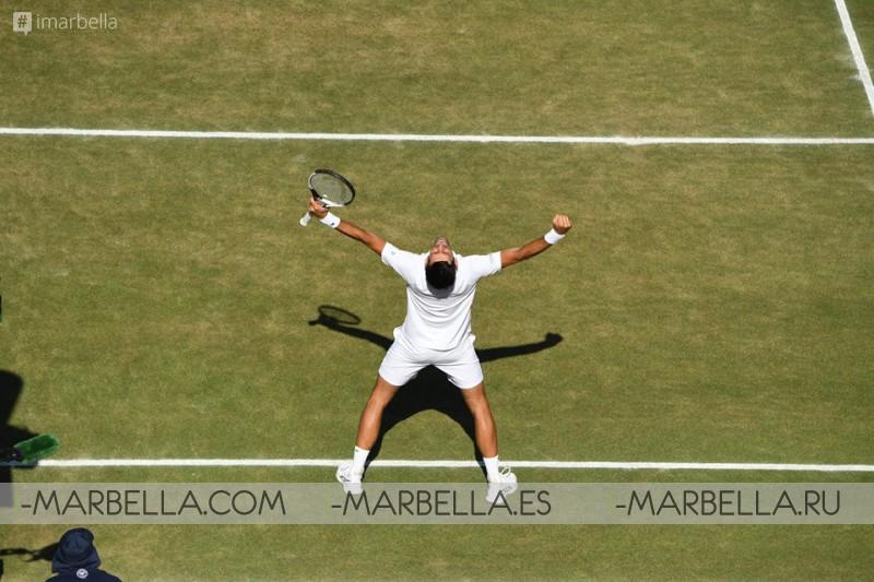 Novak Jockovic claims his 13th Grand Slam at Wimbledon tournament, London 2018