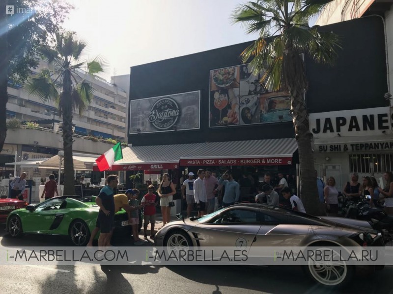 Horacio Pagani and Mario Guarnieri in Daytona  Motor Passion Puerto Banus August 2018