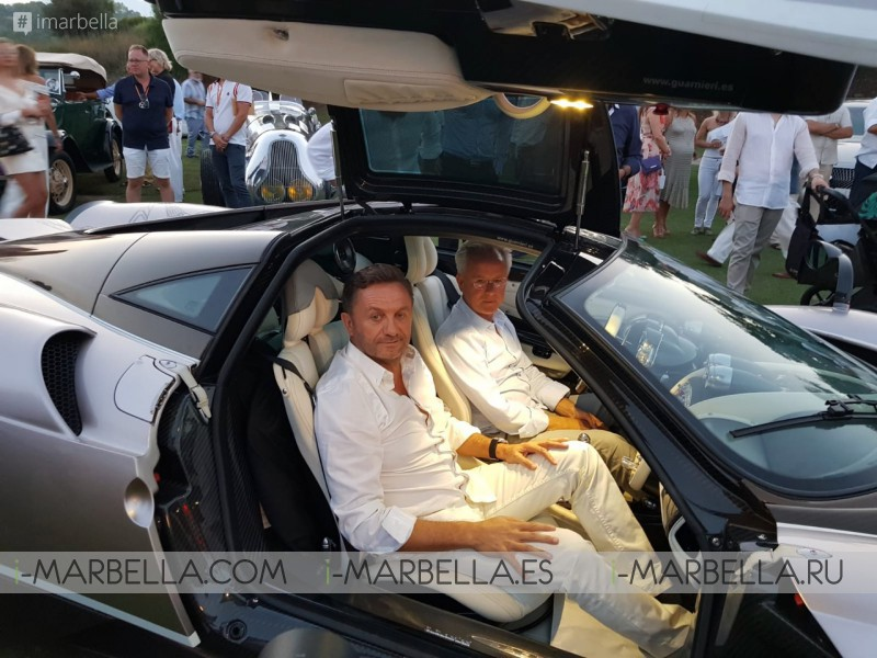 Horacio Pagani and Mario Guarnieri in Daytona  Motor Passion Puerto Banus August 2018