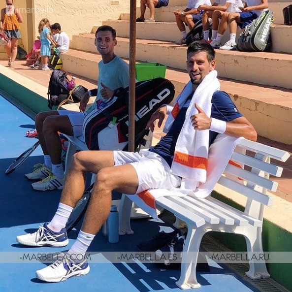 Novak Djokovic takes to the streets of Marbella August 2018 Pictures