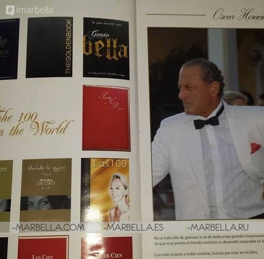 Oscar Horacio is celebrating 20 years of his Golden Book ''Los Cien'' Interview @Marbella 2018