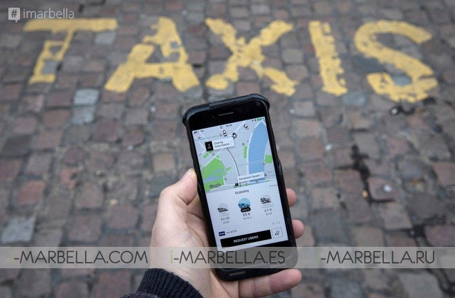 Taxi Service UBER Finally Arrives in Costa del Sol and Marbella 2018