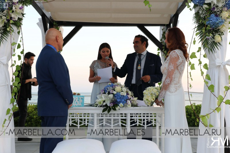 El cantante Frank Camelot y Raquel Fernández contraen matrimonio en Marbella 2018 Galería
