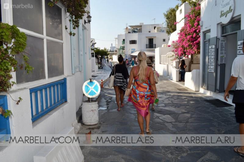 Annika Urm Blog: Mykonos cincuenta tonos de blanco y azul