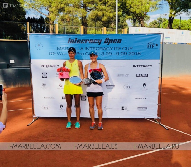 Gabriela Talaba and Claudia Hoste Ferrer win Marbella Intecracy ITF CUP 2018 @ Royal Tennis Club
