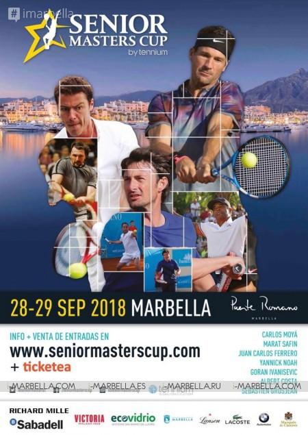 Carlos Moya, Juan Carlos Ferrero, Yannick Noah, Albert Costa, and more stars will compete at Senior Masters Cup  28 & 29 September in Marbella 2018