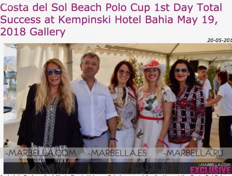 Bally Singh, Cristiano Ronaldo, Robert De Niro are on the 10 Top I-Marbella news 2018