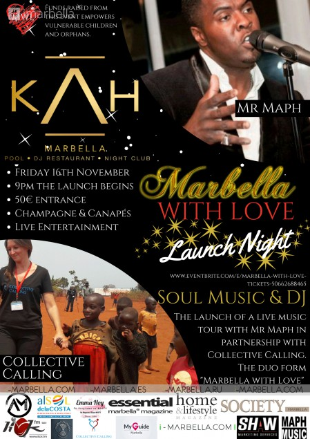Join us at Marbella with Love Launch Night Charity @ KAH Marbella, Nov 16, 2018