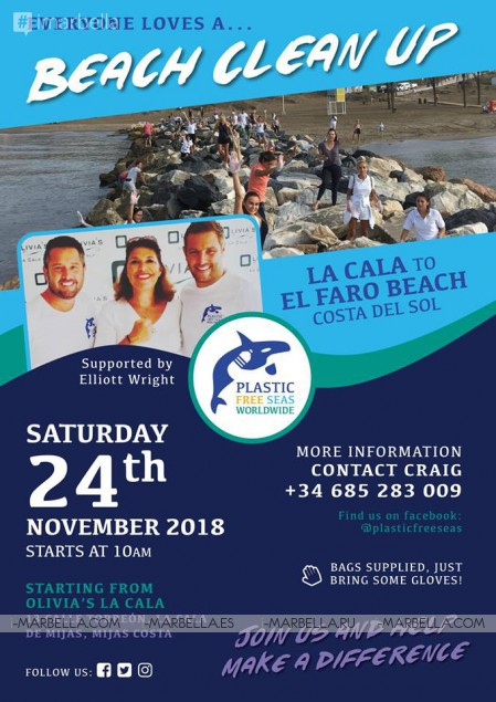 Plastic Free Seas Clean-up @ La Cala Beach @ Spain, November's 24nd 2018