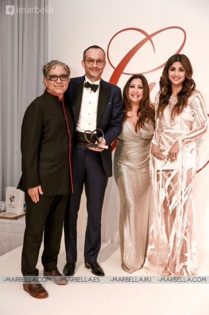 The Global Gift Gala Dubai with Maria Bravo, Eva Longoria Bastón, Deepak Chopra, Gary Dourdan, and Huda Kattan December 2018