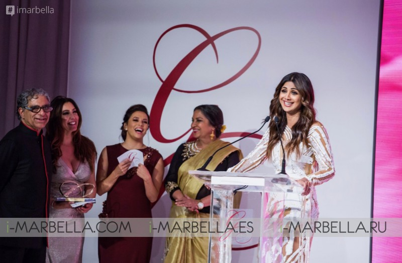 The Global Gift Gala Dubai with Maria Bravo, Eva Longoria Bastón, Deepak Chopra, Gary Dourdan, and Huda Kattan December 2018