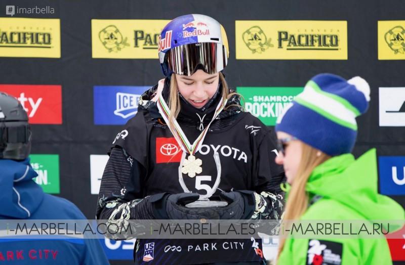 16 Years Old Estonian Kelly Sildaru shocks by winning at The 2019 Freestyle Ski World Championships
