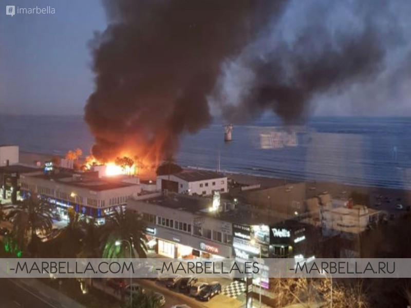 Playa Padre Destroyed by a Massive Fire in Marbella February 2019