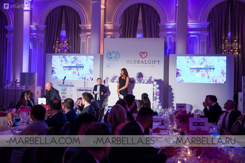 María Bravo, football for peace and global gift @ London, April 9, 2019